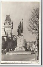Hampshire; Winchester, statue Of King Alfred & Town Hall RP PPC Unposted,