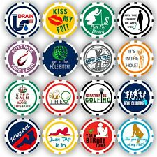 Golf Ball Marker Poker Chip Collection, 16 chips (11.5 gram chips)