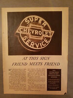 1936 Chevrolet Motor Car Co Super Service at This Sign Friend Meets Friend Ad