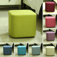 Square Wooden Stool Ottoman Footstool Chair Portable Furniture Foot Rest Seat