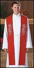 Descending Dove Clergy Confirmation Stole RED (KS658) for Ministers / Pastors