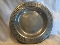 """Collectible 9"""" Vintage Hand Crafted Metal Serving Plate Candy Dish CC Cantrell"""