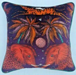 Emma J Shipley ZAMBEZI WINE VELVET Cushion Cover 41cm x 41cm