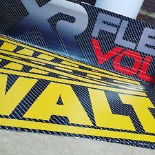 Custom DeWalt XR FLEXVOLT carbon plunge track guide rail graphics/stickers