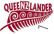 NEW ZEALAND KIWI FERN QUEENSLAND QUEENZLANDER STATE OF ORIGIN MAROON STICKER