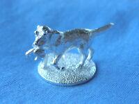 SILVER SPANIEL DOG MODEL.  HALLMARKED SILVER SPRINGER / COCKER SPANIEL FIGURE