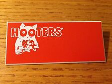 NEW HOOTERS Halloween Casino Waitress Uniform Attached Pin BLANK NAME TAG #4