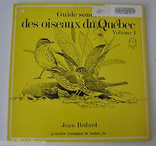 Des OISEAUX DU QUEBEC Vol.1 Jean Bedard LP Record Bird Songs
