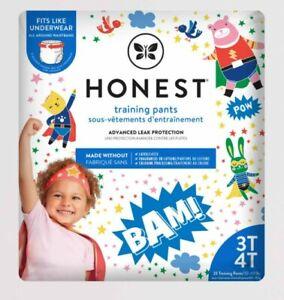 (2-Pk) Honest Company Toddler Training Pants Super Hero Size 3T/4T 46ct