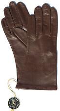 Handschuhe Leder Damen Kaiser Leather Glove Finger gefüttert Braun 6 3/4 S
