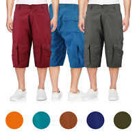Men's Cotton Cargo Shorts Relaxed Fit With Multiple Button Flap Pockets