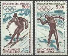 Timbres Sports JO Centrafrique PA57/8 ** lot 3203