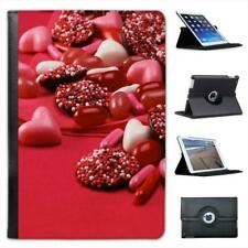 Love Sweets With Heart Shapes & Red Jelly Beans Leather Case For iPad Mini