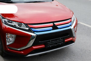 For Mitsubishi Eclipse Cross 2018-2020 ABS Front Center Grille Cover Trim 5pcs