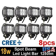 8X 18W CREE 6 LED Work Light Bar Spot offroad Lamp TRUCK BOAT JEEP SUV ATV CAR