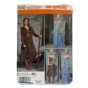 SIMPLICITY Sewing Pattern 1347 Fantasy Dresses Game of Thrones Daenerys Cosplay