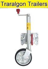 """swing up jockey wheel 8"""" 200mm solid wheel swivel bracket for trailer ALKO E2"""