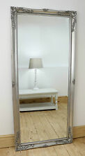 "Isabella Silver Shabby Chic Full Length Antique Floor Mirror 66"" x 30"" X Large"