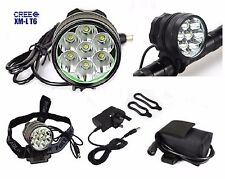 7 x Cree XML T6 LED 10000 LM Luce Bicicletta Ricaricabile 10k Proiettore Torcia