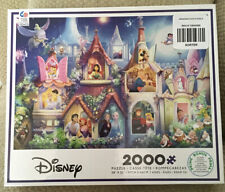 """NEW DISNEY PRINCESS PUZZLE WITH POSTER 2000 PEICES 38"""" X 26"""""""