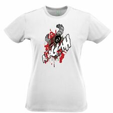 Cartoon Monster Womens TShirt Scary Ogre Face Halloween Creepy Screaming