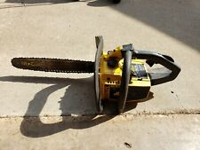 """Vintage McCulloch Pro Mac 510 Chainsaw Chain Saw with 16"""" Bar Fires As-Is"""