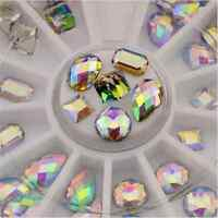 36PCS Modish 3D Vogue Nail Art Manicure Wheel Decoration Glitter AB Rhinestones