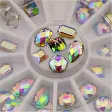 36PCS 3D DIY Elegant Cute Nail Art Tips Glitter Crystal Manicure Decoration TR70