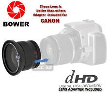 58mm Bower .42x Fisheye W/ Removable Macro 4 Canon EOS 7D 60D 50D 40D 30D 20D
