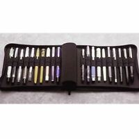 KACO Fountain Pen Pouch Pen Case Bag Business Style for 20 Pen Black Waterproof