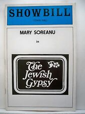 THE JEWISH GYPSY Playbill MARY SOREANU / SALOM YIDDISH MUSICAL COMEDY NYC 1983