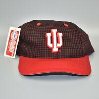 Indiana Hoosiers Vintage 90's Logo 7 Grid Adjustable Snapback Cap Hat - NWT