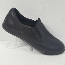 Travis Mathew Raiders Slip On Black Leather Loafers Shoes Mens Size 11