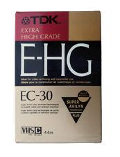 TDK E-HG 30 Minuten VHS-C Video Kassette leer (Originalverpackt, Foliert)