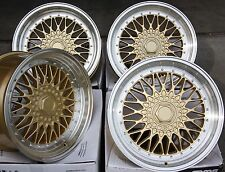 "15"" GOLD RS ALLOY WHEELS FITS FIAT 500 BARCHETTA BRAVA BRAVO DOBLO PANDA PUNTO"