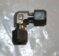 """1/4"""" Tube x 1/4"""" Tube 316ss Union Elbow Fitting Parker 4-4 EBZ-SS"""