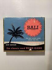 Vintage Bali Word Game Bali Solitare Card Game