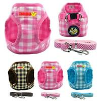 Soft Grid Puppy Dog Vest Harness and Lead for Small Dogs Chihuahua Yorkie S-L