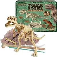 2in1 T-Rex Fossil Kit Dinosaur Kids Excavation Digging Modelling Dough Set Toy