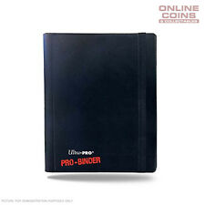 Ultra-Pro 4 Pocket BLACK Pro-Binder With 20 Trading Card Pages to Hold 160 Cards