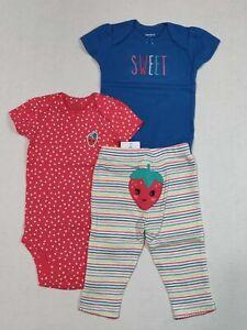 Carter/'s Infant Girls Sweets Cupcake Pajama Set 4 PC Set 24M Months NWT