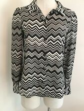 Missoni for Target Women's Top Small S Zig Zag Chevron Button Up Blouse