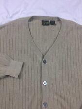 BOBBY JONES OD GREEN 100% BABY ALPACA Cardigan SWEATER Large Peru