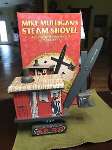 SCHYLLING WOODEN MIKE MULLIGAN'S STEAM SHOVEL WOODEN TOY MARY ANNE 1999 RETRO