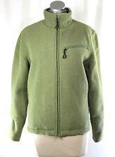 WOOLRICH Women's Aloe Green Wool Jacket   sz S   Breathable Mesh Lined Full Zip