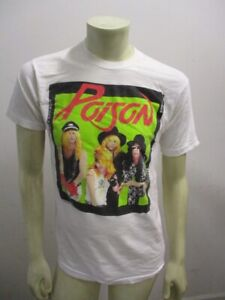 Vintage 1989 POISON Film Negative Print T Shirt White Size MEDIUM