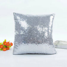 Solid  Color Glitter Sequins Throw Pillow Case Waist Cushion Cover Ho Dlqq;
