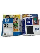 HP 26 Printer black Ink Cartridge sealed expired Deskjet Deskwriter Apollo Fax