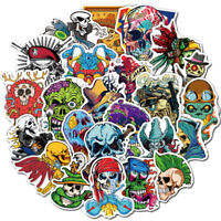 50Pc Scary Horror Themed Mixed Skateboard Stickers Skull Blood Gore Sticker Bomb