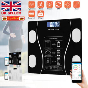 180KG Bluetooth Digital Weight Scales Bathroom Smart Body BMI Monitor